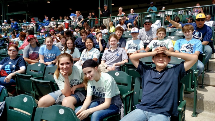 7th grade field trip to Dow Diamond