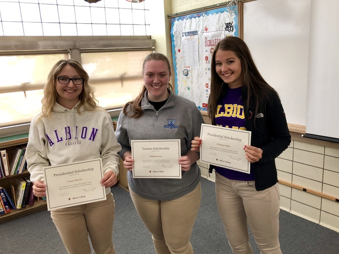 Albion College scholarship recipients