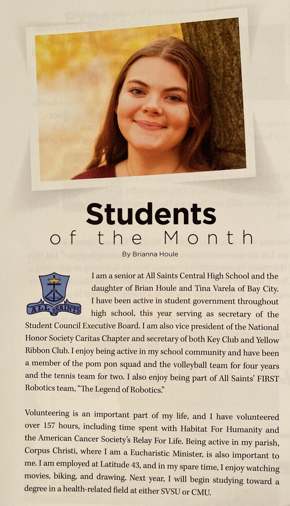 Neighbors of the Bay-Student of the Month.